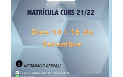 MATRICULA ABIERTA CURSO 2021/2022